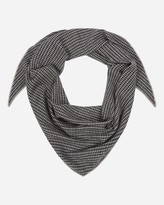 N.Peal Patterned Triangular Cashmere Scarf