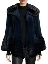 Gorski Sheared Mink Fur Jacket, Navy