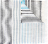 Salvatore Ferragamo striped scarf - men - Silk/Linen/Flax - One Size
