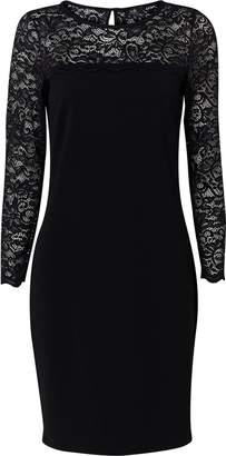 Wallis Black Lace Sleeve Dress