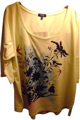 Arfango Yellow Cotton Top for Women