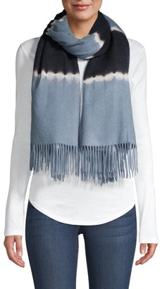 CHARLOTTE SIMONE Betty Tie-Dyed Wool Scarf