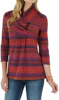 Wrangler Cowl Neck Ribbed Sweater - 3/4 Sleeve (For Women)
