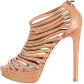 Christian Dior Multistrap Grommet Platform Sandals