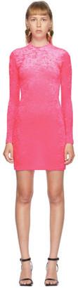 Balenciaga Pink Velvet Cycling Dress