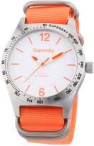 Superdry Women's 42mm Orange Canvas Band Steel Case Quartz Watch Syl1210