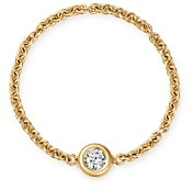 Zoë Chicco 14K Yellow Gold Floating Diamond Chain Ring