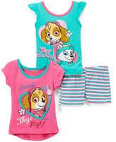 Children's Apparel Network PAW Patrol Pink & Green Hi-Low Tee Set - Toddler