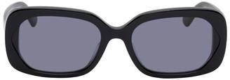 McQ Black London Calling Rectangular Sunglasses