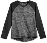 Champion Girls' Space-Dye & Mesh Raglan-Sleeve Top