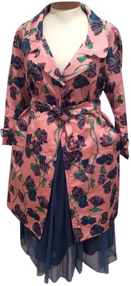 Prada Multicolour Silk Trench Coat for Women Vintage