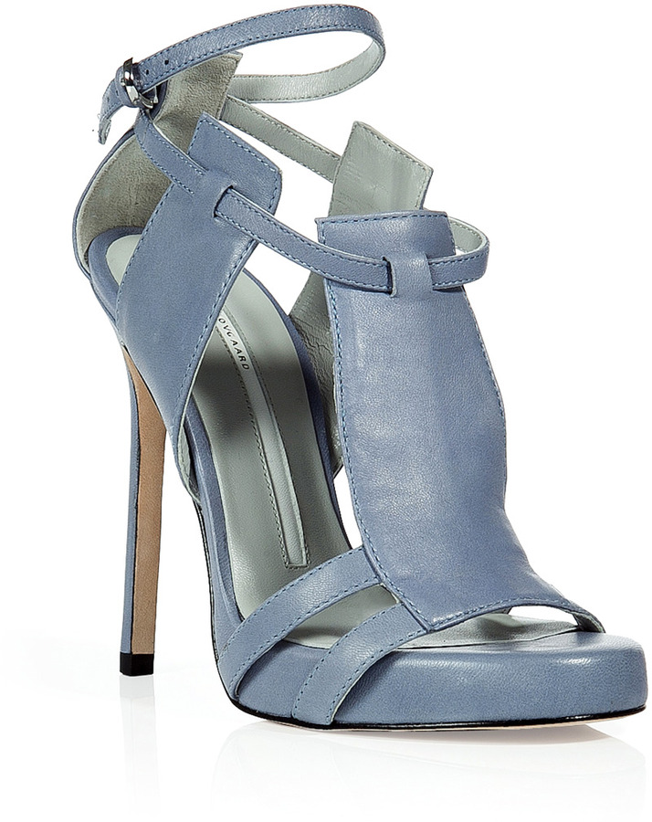 Camilla Skovgaard Sky Blue Three-Panel Stiletto Sandals