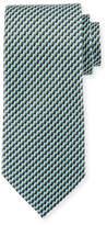 Ermenegildo Zegna Printed Stairs Silk Tie, Green