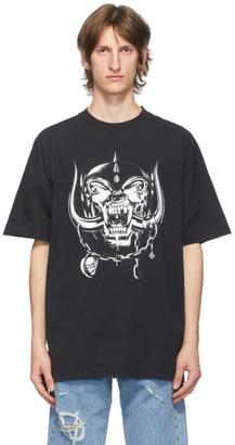 Vetements Black Motorhead Edition Big Skull T-Shirt