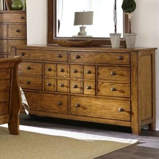 Millwood Pines Grandpas Cabin 7 Drawer Standard Dresser Millwood Pines Color: Light Brown