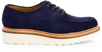 Grenson Barnett Suede Wedge Lace-Up Shoes