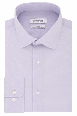 Calvin Klein Men's Dress Shirt Regular Fit Non Iron Stretch Solid