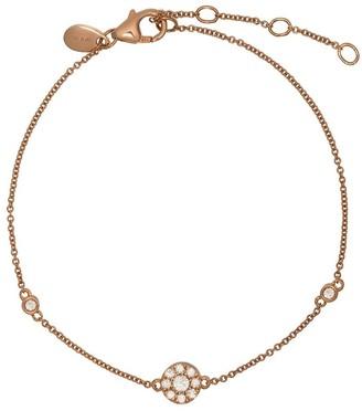 Monan 18kt Rose Gold Diamond Charm Bracelet