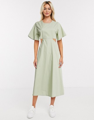 Daisy Street midi dress with cut outs