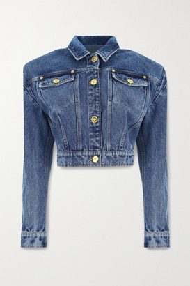 Versace Cropped Denim Jacket - Mid denim