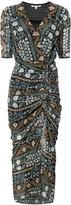Veronica Beard patterned wrap dress