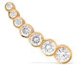Sophie Bille Brahe Petite Croissant De Lune 18-karat Gold Diamond Earring - one size