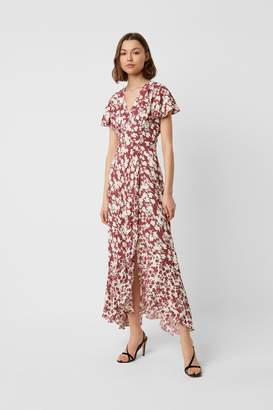 French Connection Brunetta Floral Wrap Maxi Dress