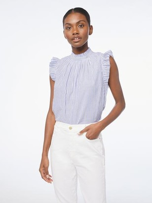 Frame Sleeveless Ruffle Top