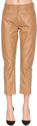 Drome Cropped Straight Leg Leather Pants
