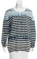 Raquel Allegra Striped Wool-Cashmere Sweater