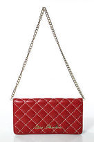 Love Moschino Red Leather Quilted Small Wallet on Chain Handbag