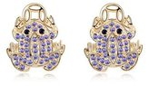 Miki&Co Golden Swarovski Elements Women's Crystal Toad Earrings, with a Gift Box