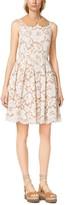 Michael Kors Plonge-Collar Floral Guipure Lace Dress