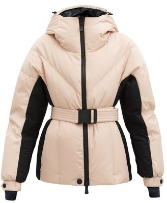 MONCLER GRENOBLE Frachey Hooded Belted Down Jacket - Pink