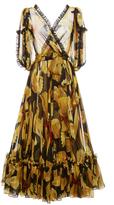 Dolce & Gabbana Pasta Print Chiffon Dress