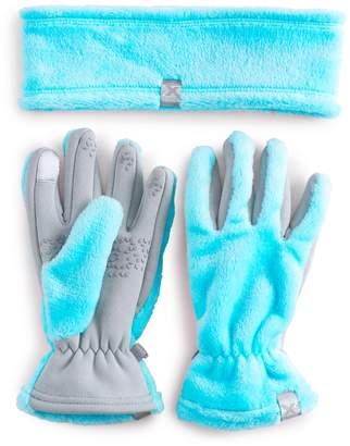 ZeroXposur Girls 4-16 Headband & Gloves Set