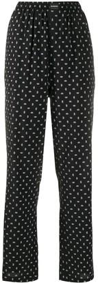 Balenciaga BB logo wide leg trousers