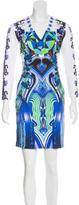 Just Cavalli Digital Print Long Sleeve Dress w/ Tags