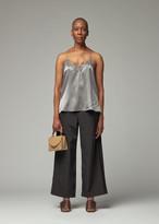 Viden VIDEN Women's Fala Silk Tank Top in Grey Size Small
