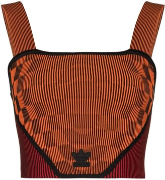 adidas x Paolina Russo ribbed corset top