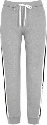 Moncler Grey Striped Cotton-blend Sweatpants