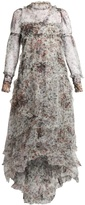 Erdem Stacey Hurst Rose-print tiered tulle gown