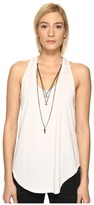 The Kooples Mix Cotton Charms Tank Top Women's Sleeveless