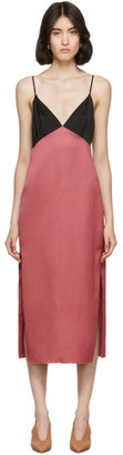 Marina Moscone Pink and Black Heavy Satin Slip Dress