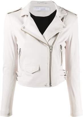 IRO pocket detail leather biker jacket