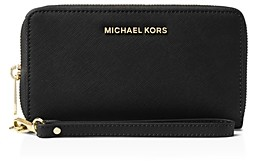 MICHAEL Michael Kors Multi-Function Flat Large Saffiano Leather Smartphone Wristlet