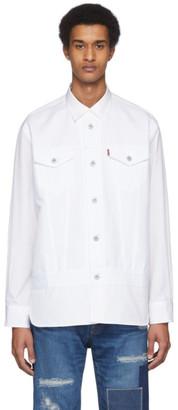 Junya Watanabe White Levis Edition Cotton Broadcloth Shirt