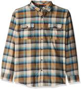Burnside Men's Shutdown Plaid Flannel Button Down Long Sleeve Shirt