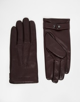 Ted Baker Leather Gloves - Red