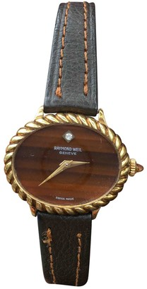 Raymond Weil Brown Gold plated Watches